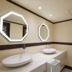 鏡照明輝(女優ミラー)日本武道館様 トイレの場合